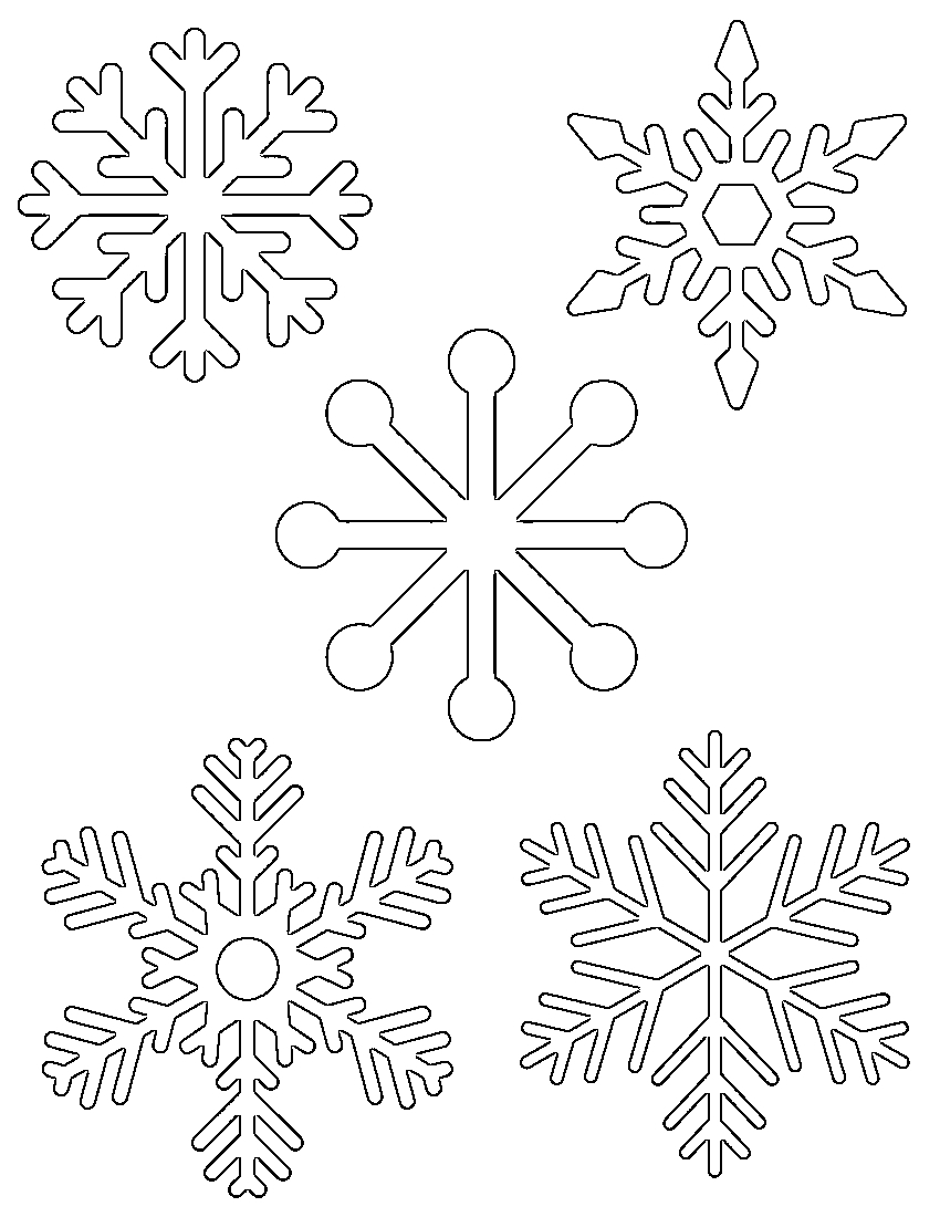 Free Printable Snowflake Templates – Large & Small Stencil Patterns - Free Printable Stencil Patterns