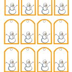 Free Printable Snowman Christmas Gift Tags   Free Printable Holiday Gift Labels
