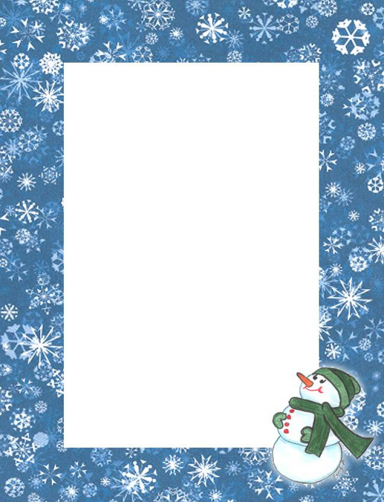 Free Printable Snowman Stationery - Zumrutuanka For Free Printable - Free Printable Snowman Stationery