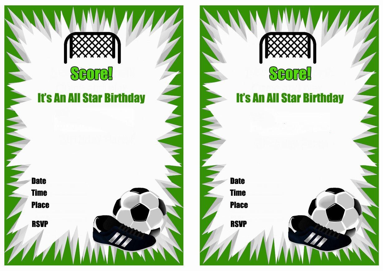 Free Printable Soccer Birthday Party Invitations   Birthday Party In - Free Printable Soccer Birthday Invitations