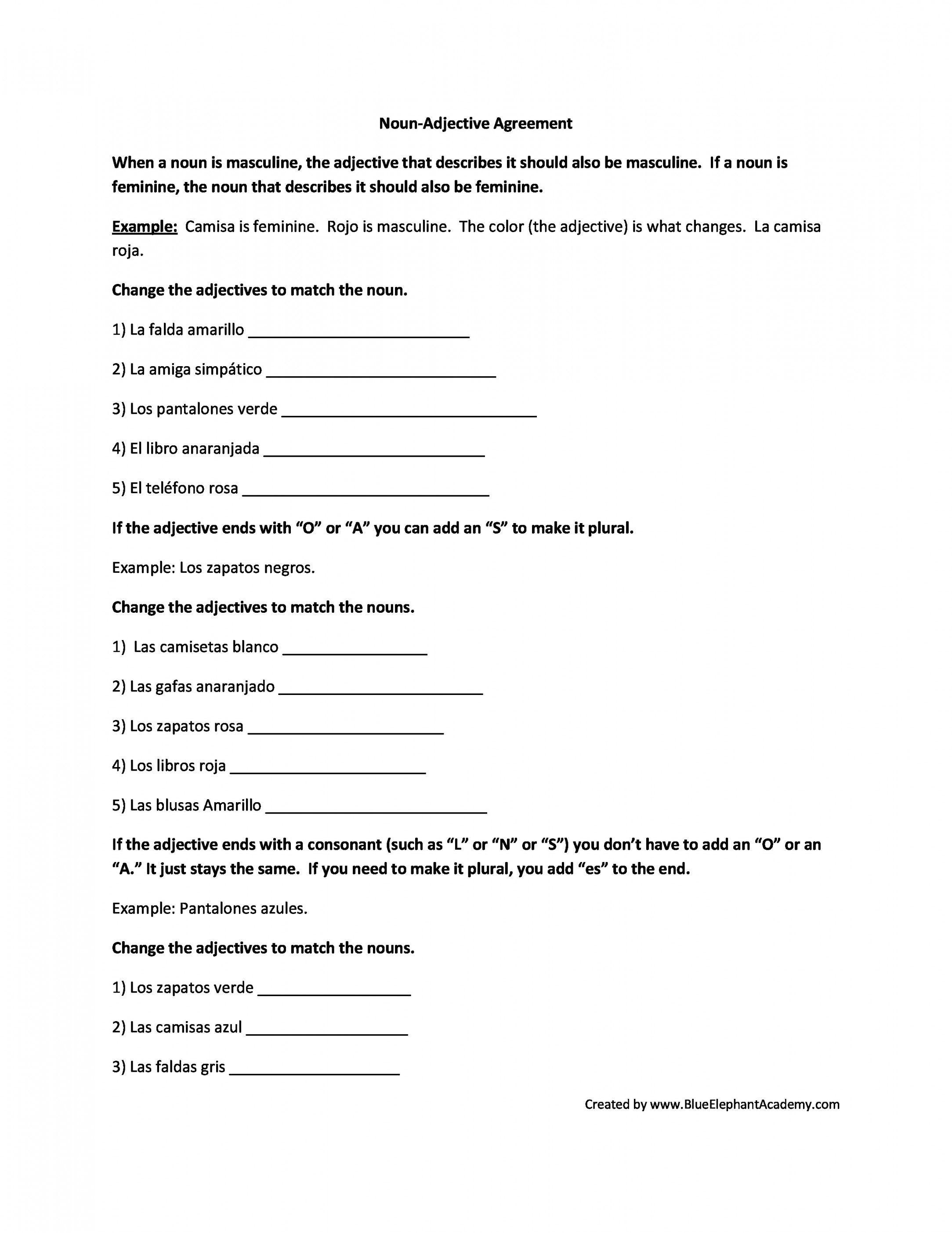 Free Printable Spanish Worksheets For Beginners   Lostranquillos - Free Printable Spanish Worksheets