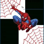 Free Printable Spiderman Party Invitations On Www.thepartywebsite   Free Printable Spiderman Pictures