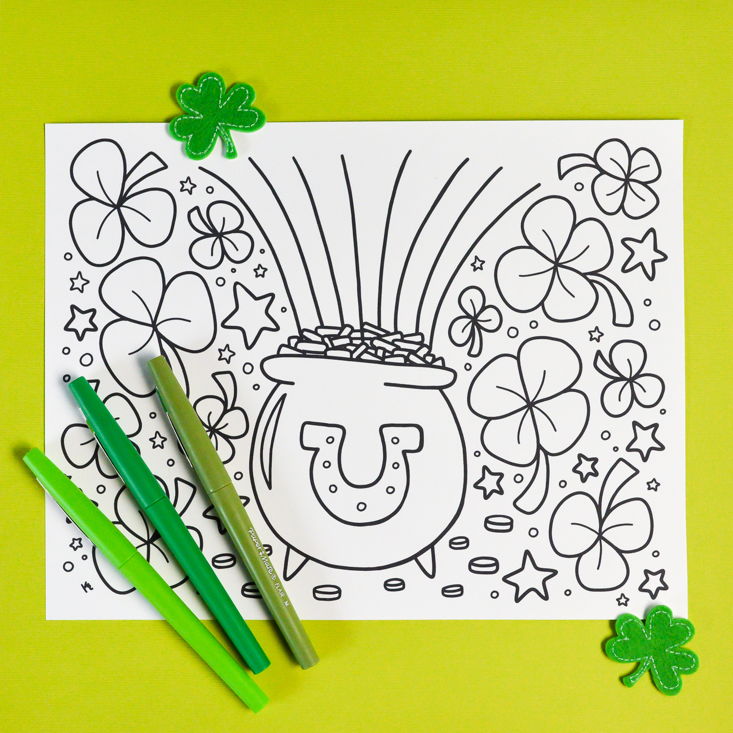 Free Printable St. Patrick's Day Coloring Page - Hey, Let's Make Stuff - Free Printable Saint Patrick Coloring Pages