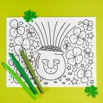 Free Printable St. Patrick's Day Coloring Page   Hey, Let's Make Stuff   Free Printable St Patrick Day Coloring Pages