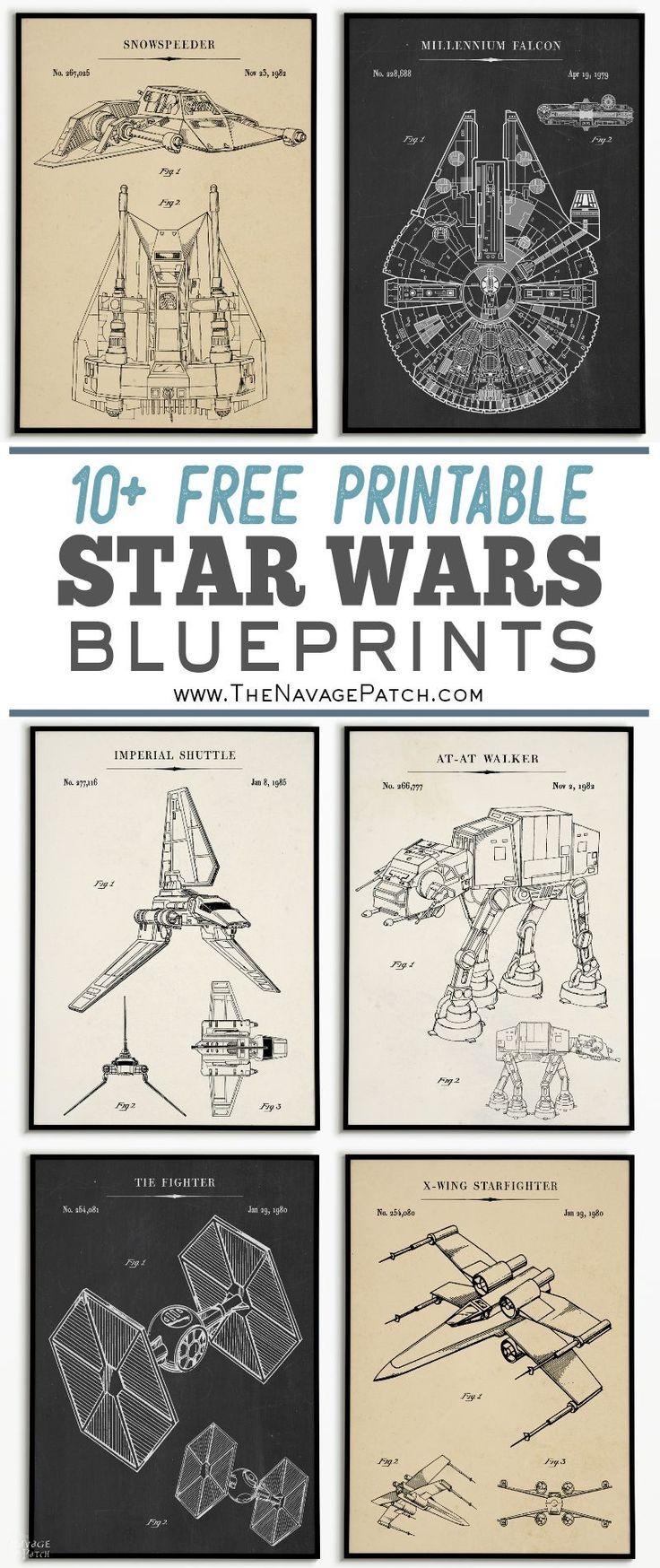 Free Printable Star Wars Blueprints | Star Wars Free Vintage - Free Printable Posters