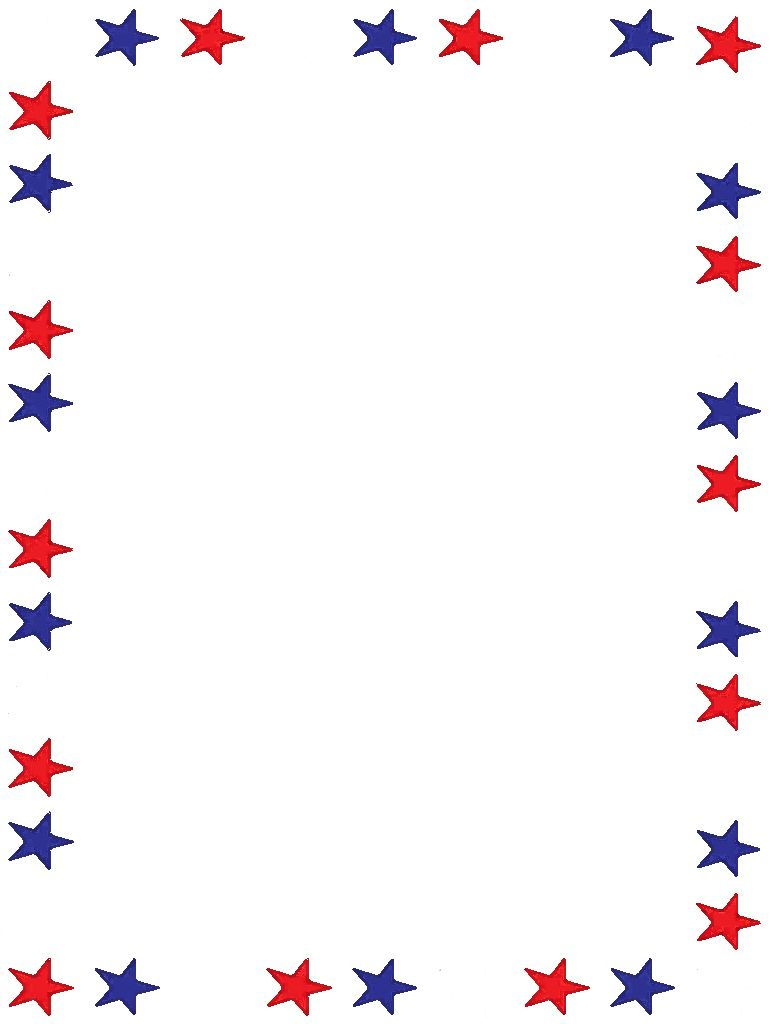 Free Printable Stationery, Free Online Writing Paper   Boarders - Free Printable Patriotic Writing Paper