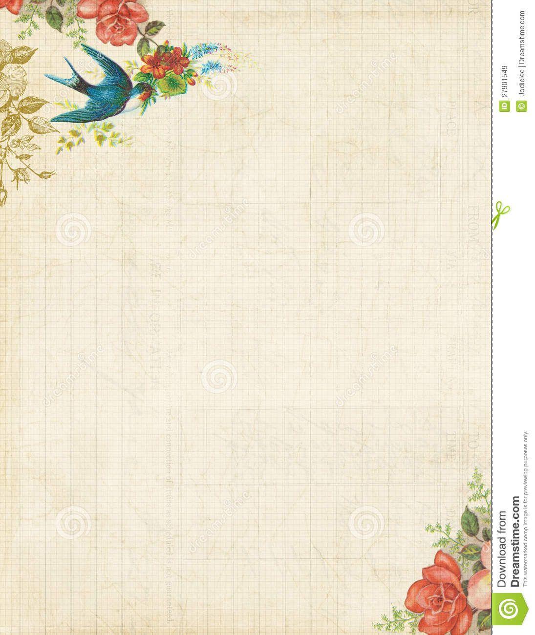 Free Printable Stationery Vintage Backgrounds - 8.4.kaartenstemp.nl • - Free Printable Stationary
