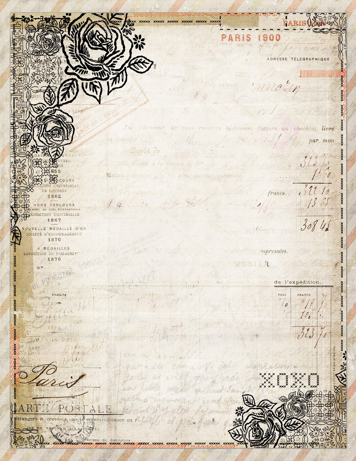 Free Printable Stationery Vintage Backgrounds - 8.4.kaartenstemp.nl • - Free Printable Stationery Paper