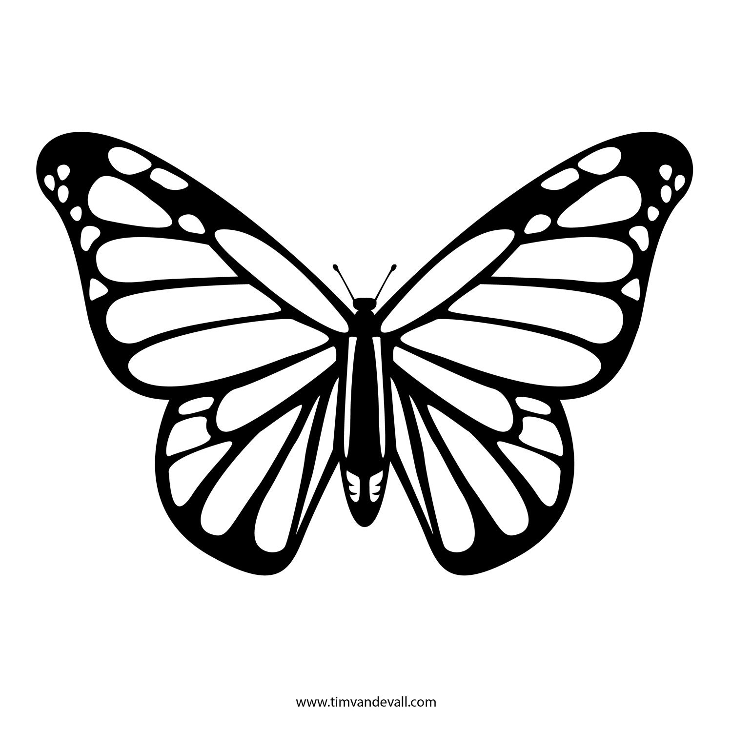 Free Printable Stencils In Lots Of Different Categories. Lots Of - Free Printable Butterfly Cutouts