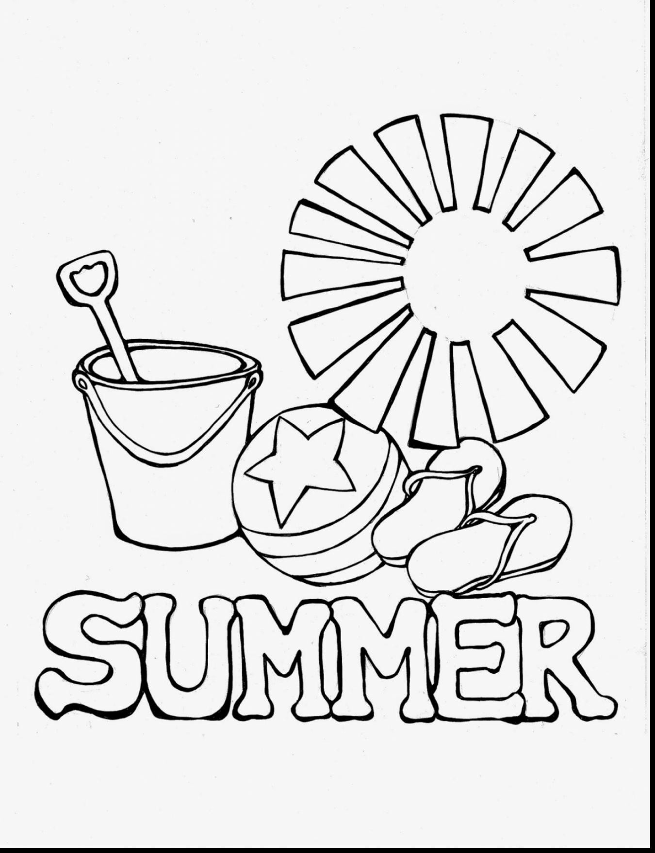 Free Printable Summer Coloring Pages - Saglik - Free Printable Summer Coloring Pages