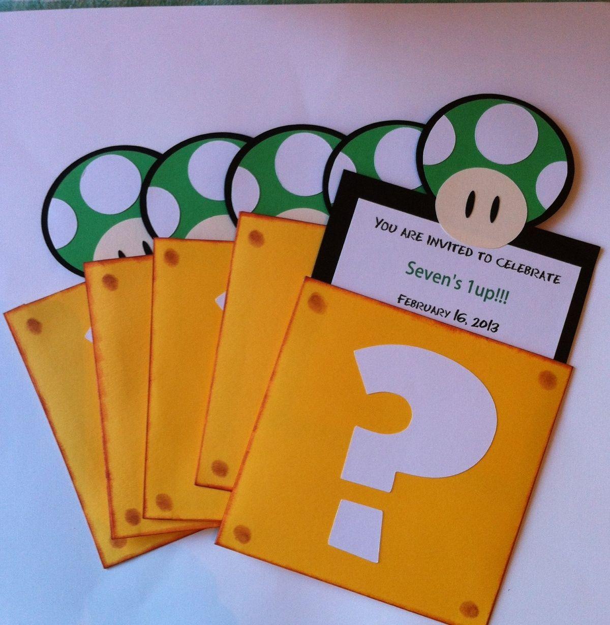 Free Printable Super Mario Bros. Birthday Party Invitation | Mario - Free Printable Super Mario Bros Invitations
