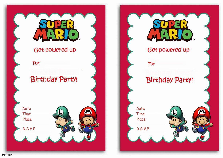Free Printable Super Mario Bros Invitation | Free Printable - Free Printable Super Mario Bros Invitations