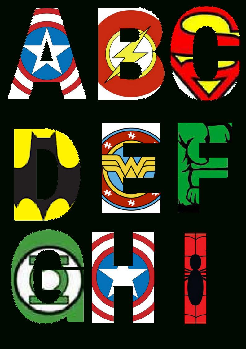 Free Printable Superhero Alphabet Letters | Little Trumpet | Talons - Free Printable Superhero Pictures