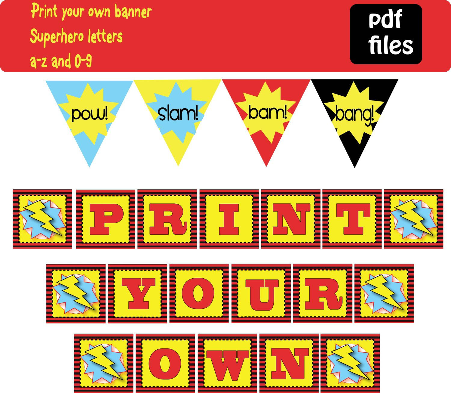 Free Printable Superhero Banner | Super Hero Theme Ideas And - Free Printable Superhero Pictures