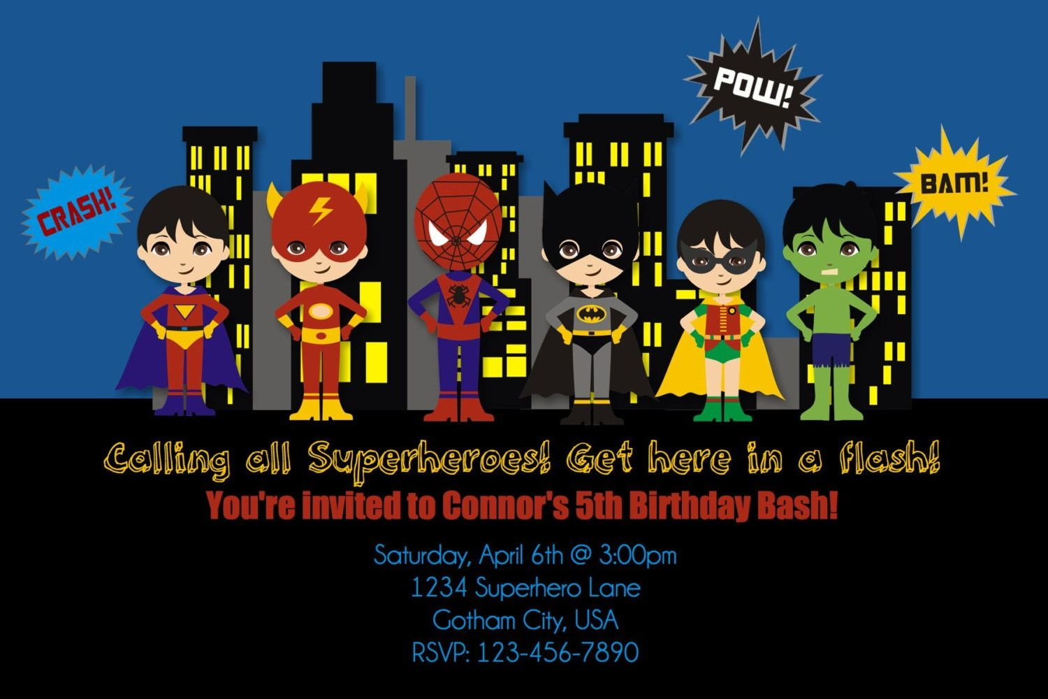 Free Printable Superhero Birthday Invitation Templates Create Your - Free Printable Superhero Birthday Invitation Templates