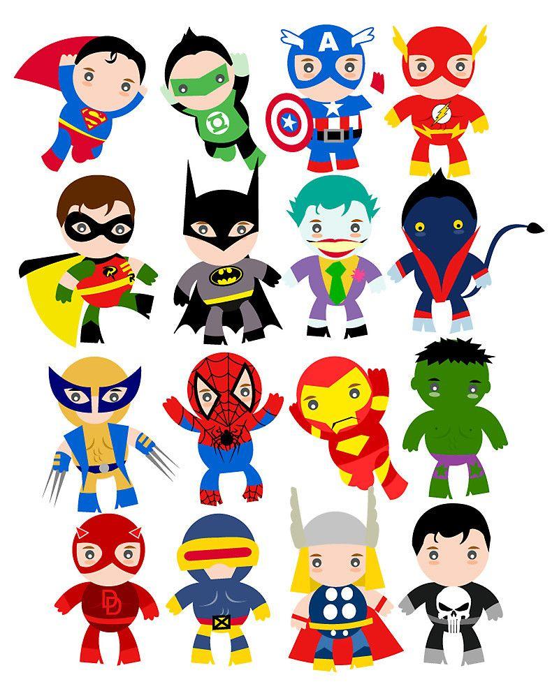 Free Printable Superhero Clipart | Ideias | Superhero Classroom - Free Printable Superhero Pictures