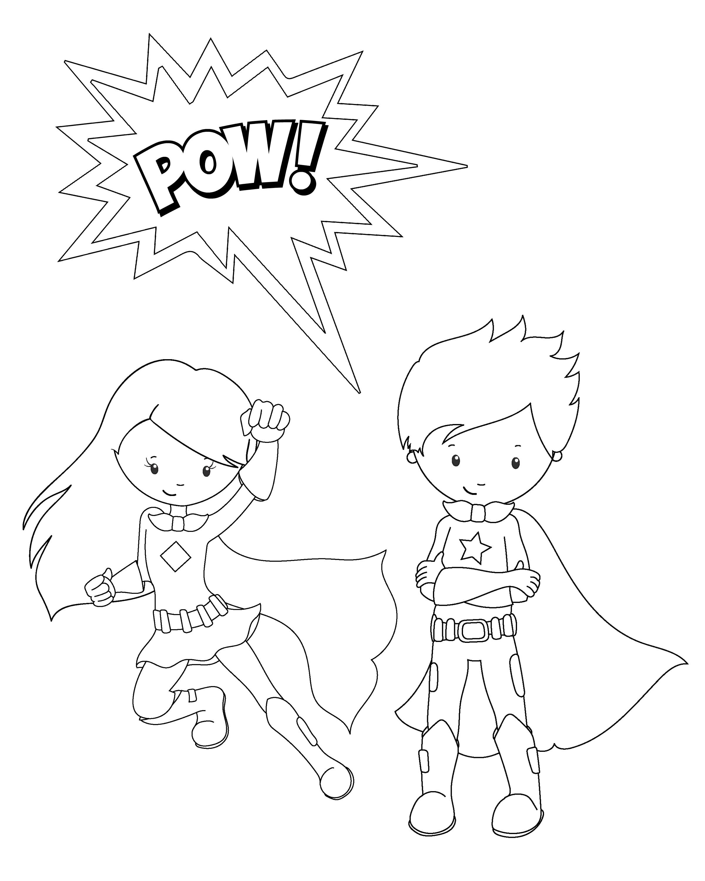 Free Printable Superhero Coloring Sheets For Kids | Summer Camp - Free Printable Superhero Coloring Pages