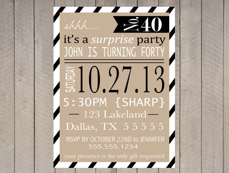 Free Printable Surprise Party Invitation Templates | Invitations - Free Printable Surprise Party Invitation Templates