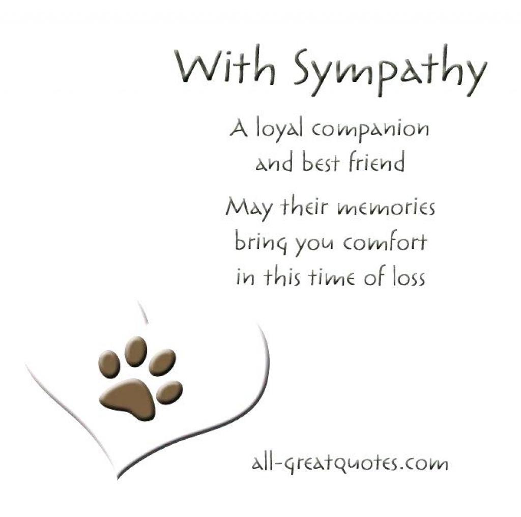 Free Printable Sympathy Cards – Davidbodner.co Within Free Printable - Free Printable Sympathy Cards For Loss Of Dog