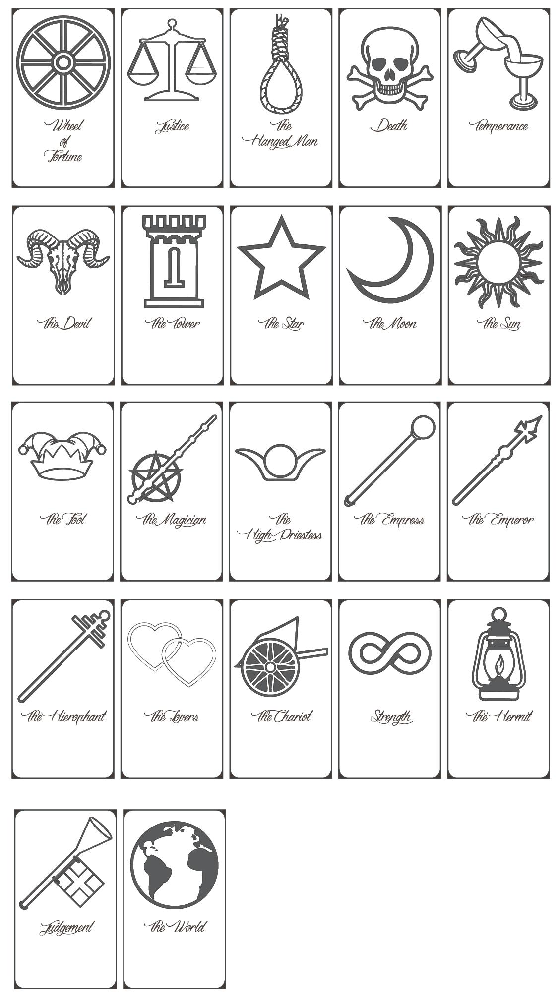 Free Printable Tarot Cards Pdf - Printable Cards - Free Printable Tarot Cards