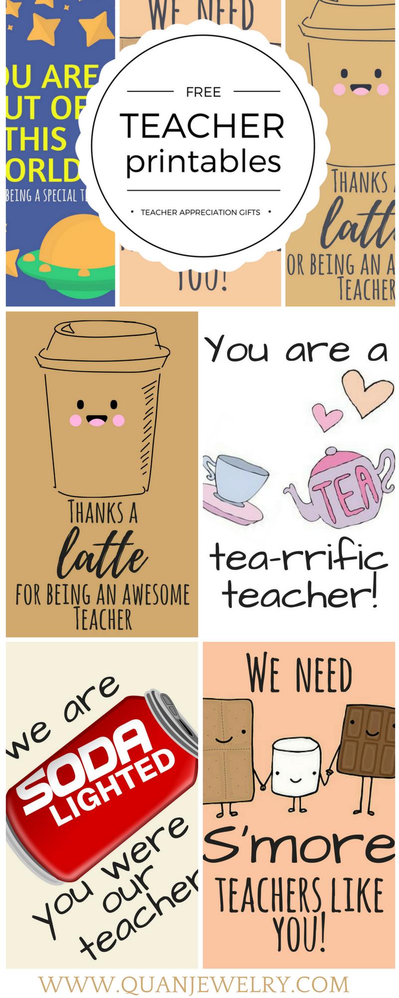 Free Printable Teacher Appreciation Thank You Cards | Teacher Gift - Free Printable Teacher Appreciation Greeting Cards