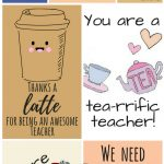 Free Printable Teacher Appreciation Thank You Cards | Teacher Gift   Free Printable Teacher's Day Greeting Cards