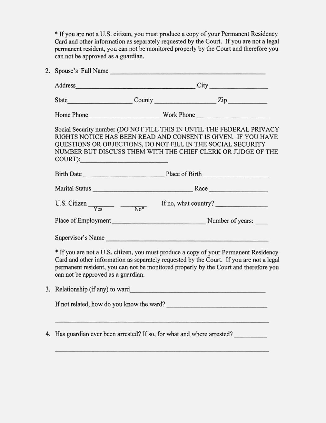 Free Printable Temporary Guardianship Form – Keni.candlecomfortzone - Free Printable Legal Guardianship Forms