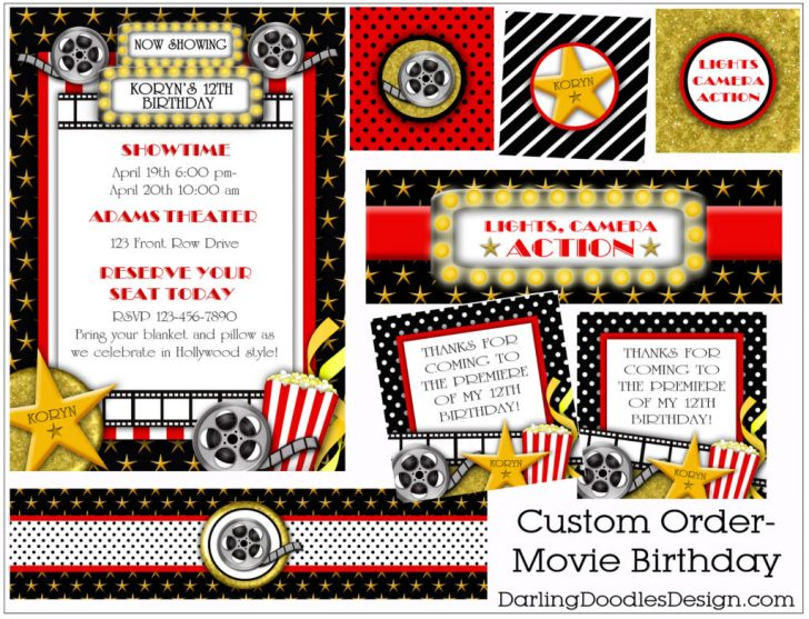 Movie Birthday Party Invitations Free Printable