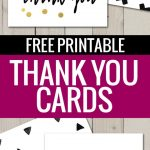 Free Printable Thank You Cards | Freebies | Pinterest | Printable   Free Printable Business Card Templates For Teachers