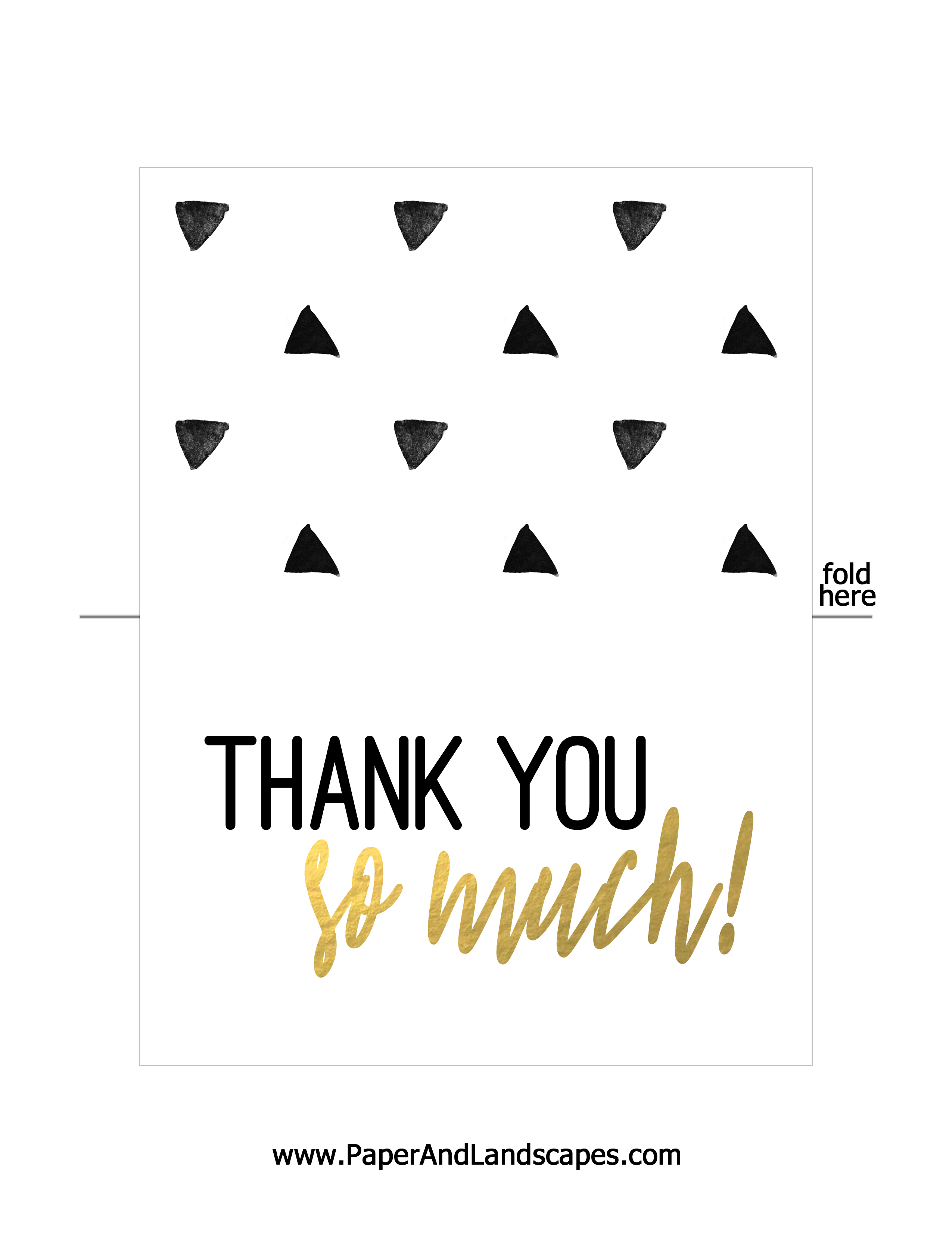 Free Printable Thank You Cards - Paper And Landscapes - Free Printable Thank You Notes