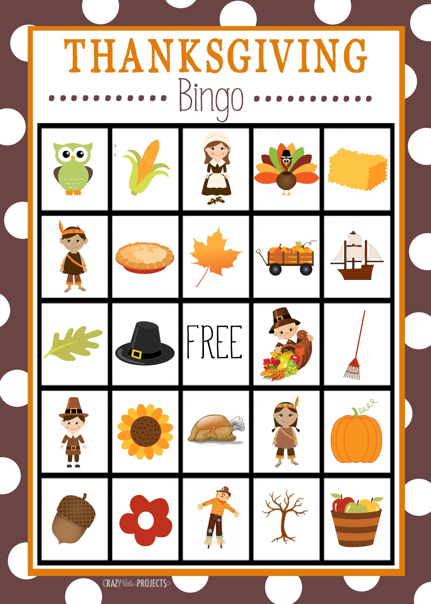 Free Printable Thanksgiving Bingo Game | Craft Time | Pinterest - Free Printable Thanksgiving Graphics