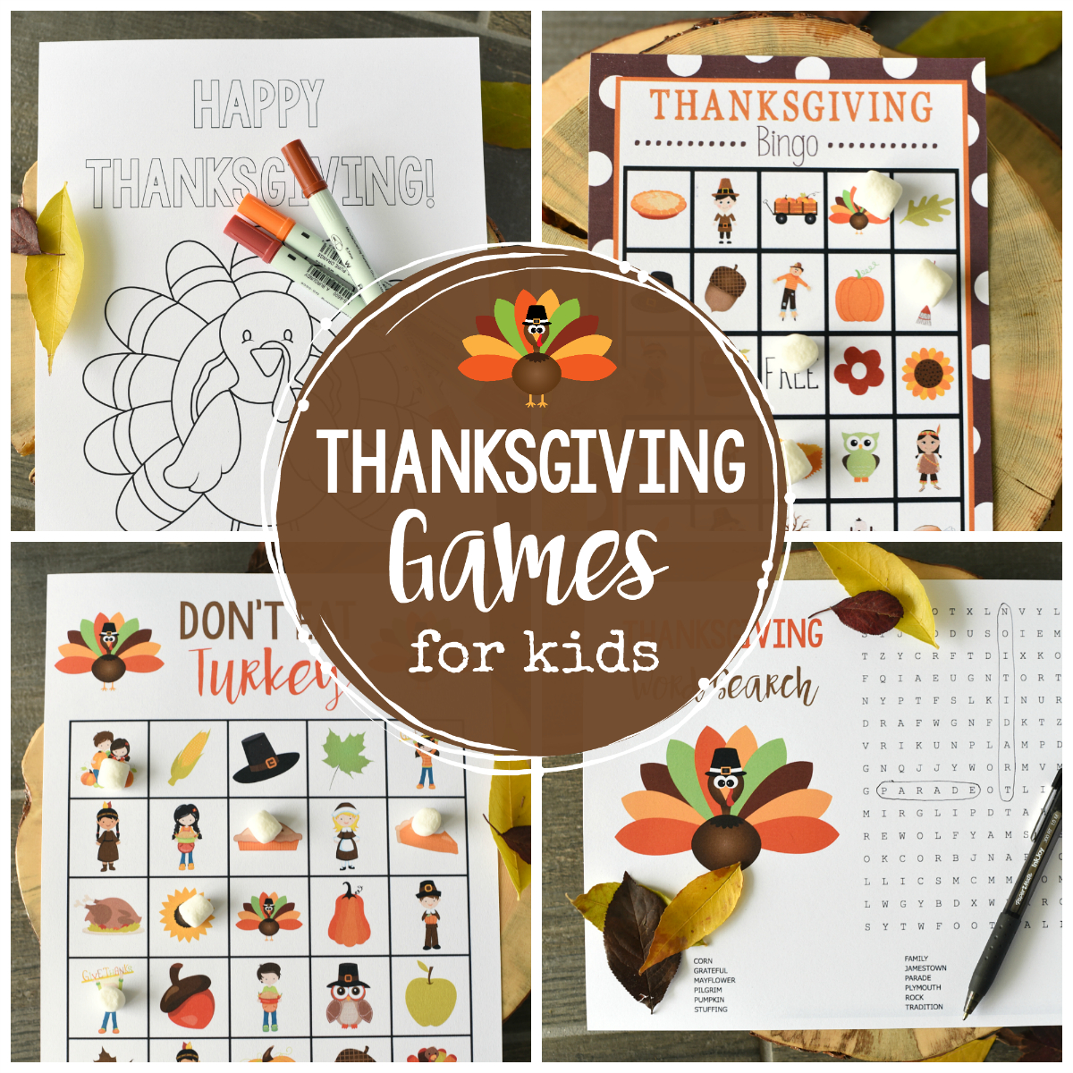 Free Printable Thanksgiving Games For Kids – Fun-Squared - Free Printable Thanksgiving Games For Adults