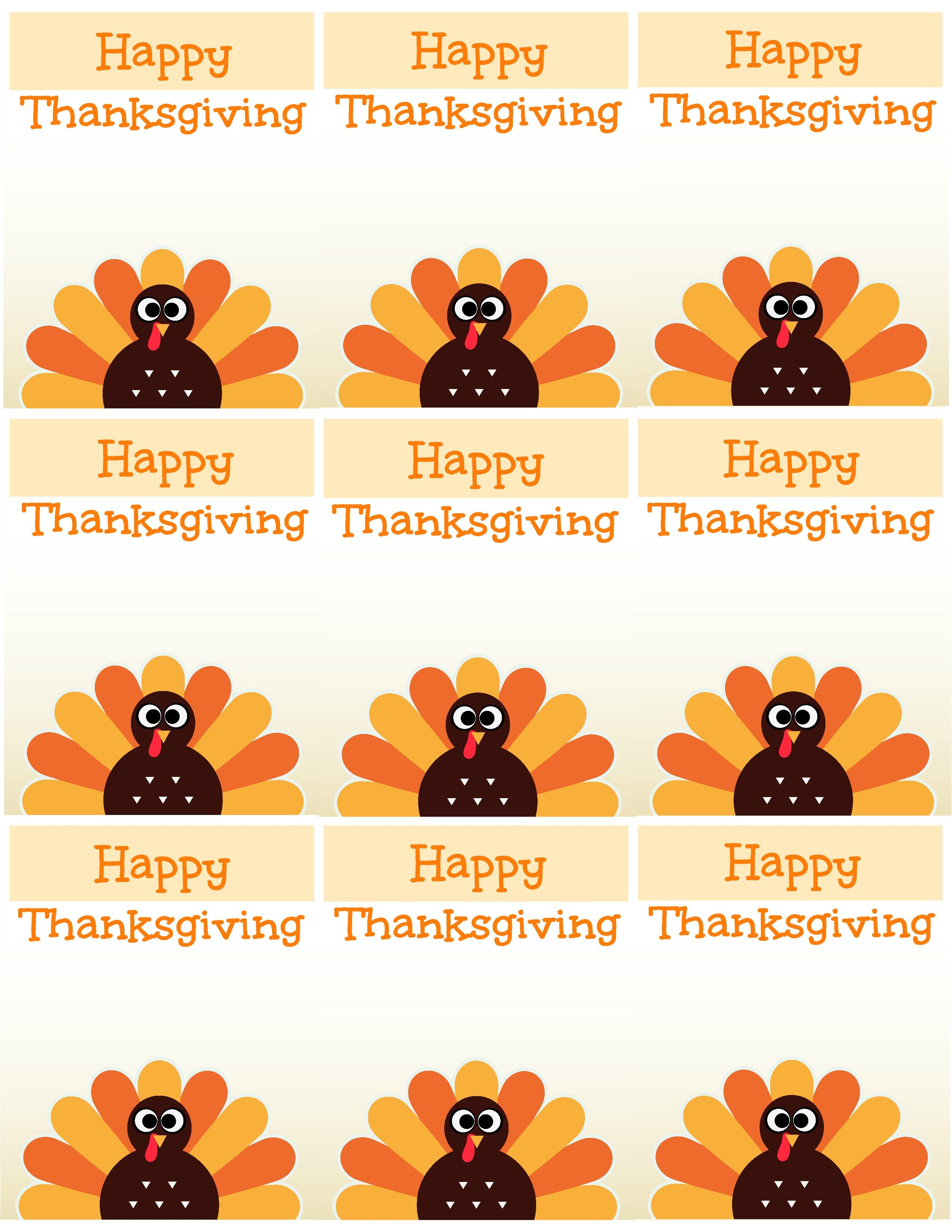 Free Printable Thanksgiving Place Cards -- Also Great For Cupcake - Free Printable Thanksgiving Place Cards To Color