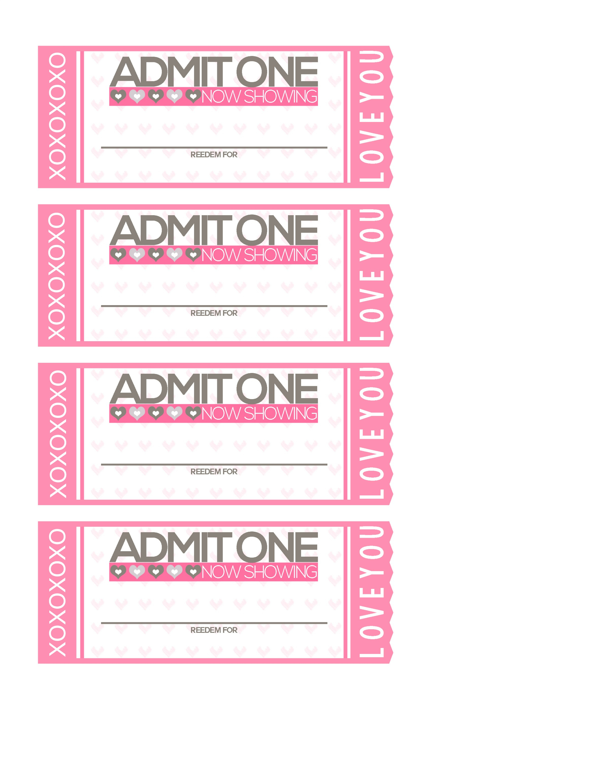 Free Printable: Tickets To Love Valentine Coupon Book! - Shesaved® - Free Printable Coupon Book For Boyfriend
