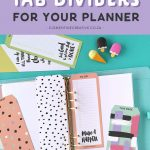 Free Printable Top Tab Dividers For Planners, Diaries And Agendas   Free Printable Dividers