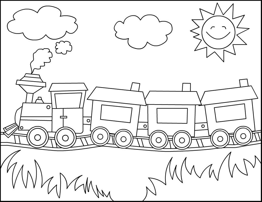 Free Printable Train Coloring Pages For Kids | Joel Ideas | Train - Free Printable Train Pictures