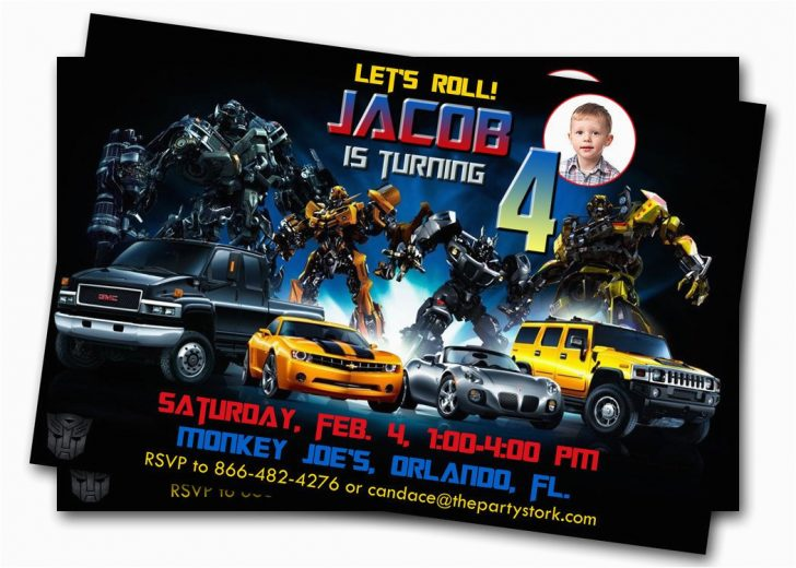 Transformers Party Invitations Free Printable