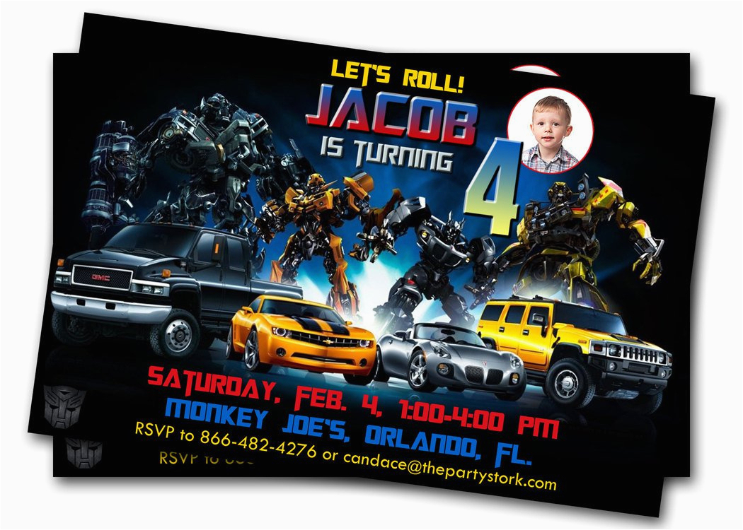 Free Printable Transformer Birthday Invitations Free Printable - Transformers Party Invitations Free Printable