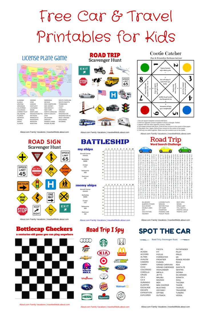 Free Printable Travel Games For Kids | Road Trip | Pinterest | Road - Free Printable Car Ride Games