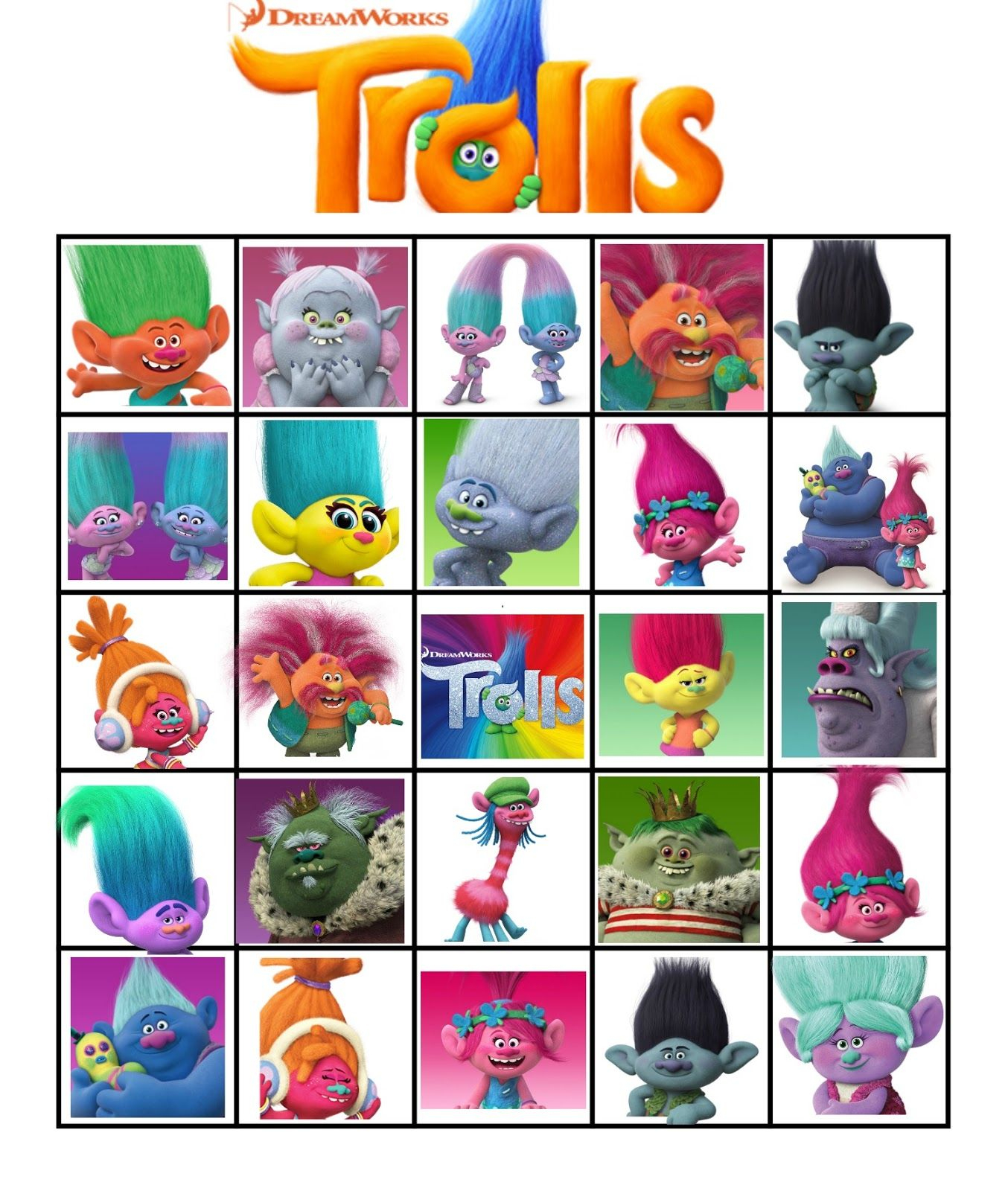 Free Printable Trolls Movie Bingo   Trolls Printables   Pinterest - Free Printable Trolls