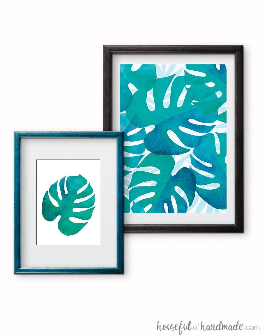 Free Printable Tropical Leaf Prints - Houseful Of Handmade - Free Printable Artwork