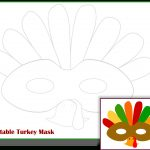 Free Printable Turkey Mask Template | Thanksgiving Activities For   Free Turkey Cut Out Printable