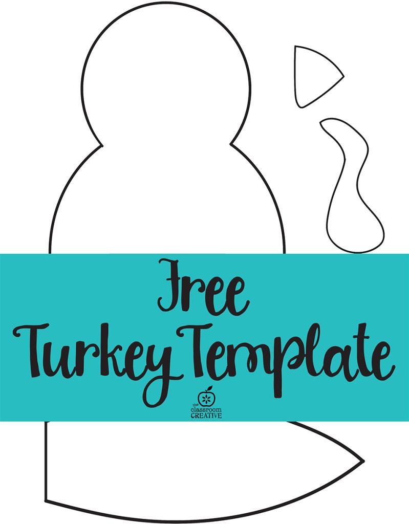 Free Printable Turkey Template. Easy Peasy | Kids Thanksgiving - Free Printable Turkey Craft