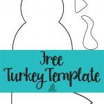 Free Printable Turkey Template. Easy Peasy | Kids Thanksgiving   Free Turkey Cut Out Printable
