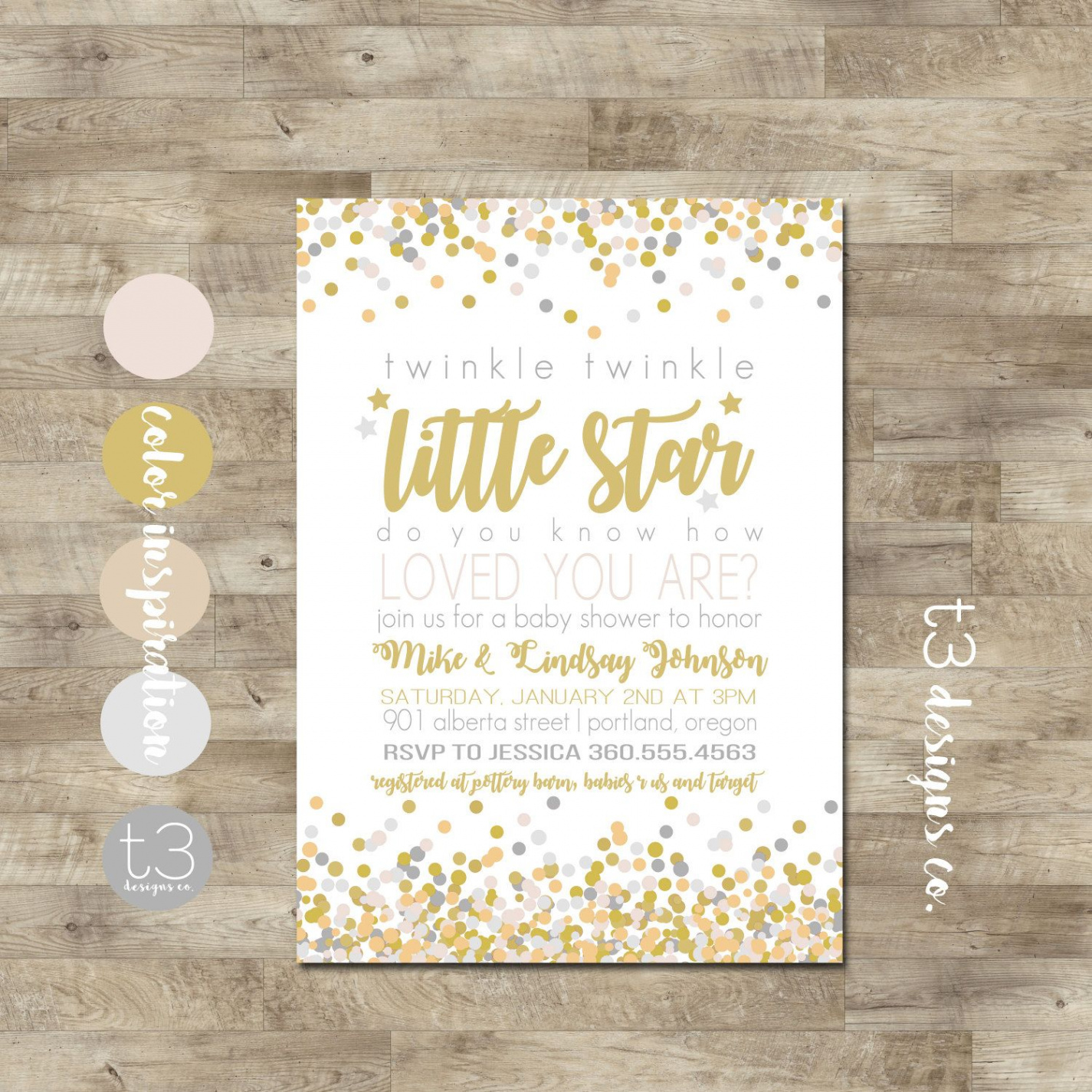 Free Printable Twinkle Twinkle Little Star Baby Shower Invitations - Free Printable Twinkle Twinkle Little Star Baby Shower Invitations