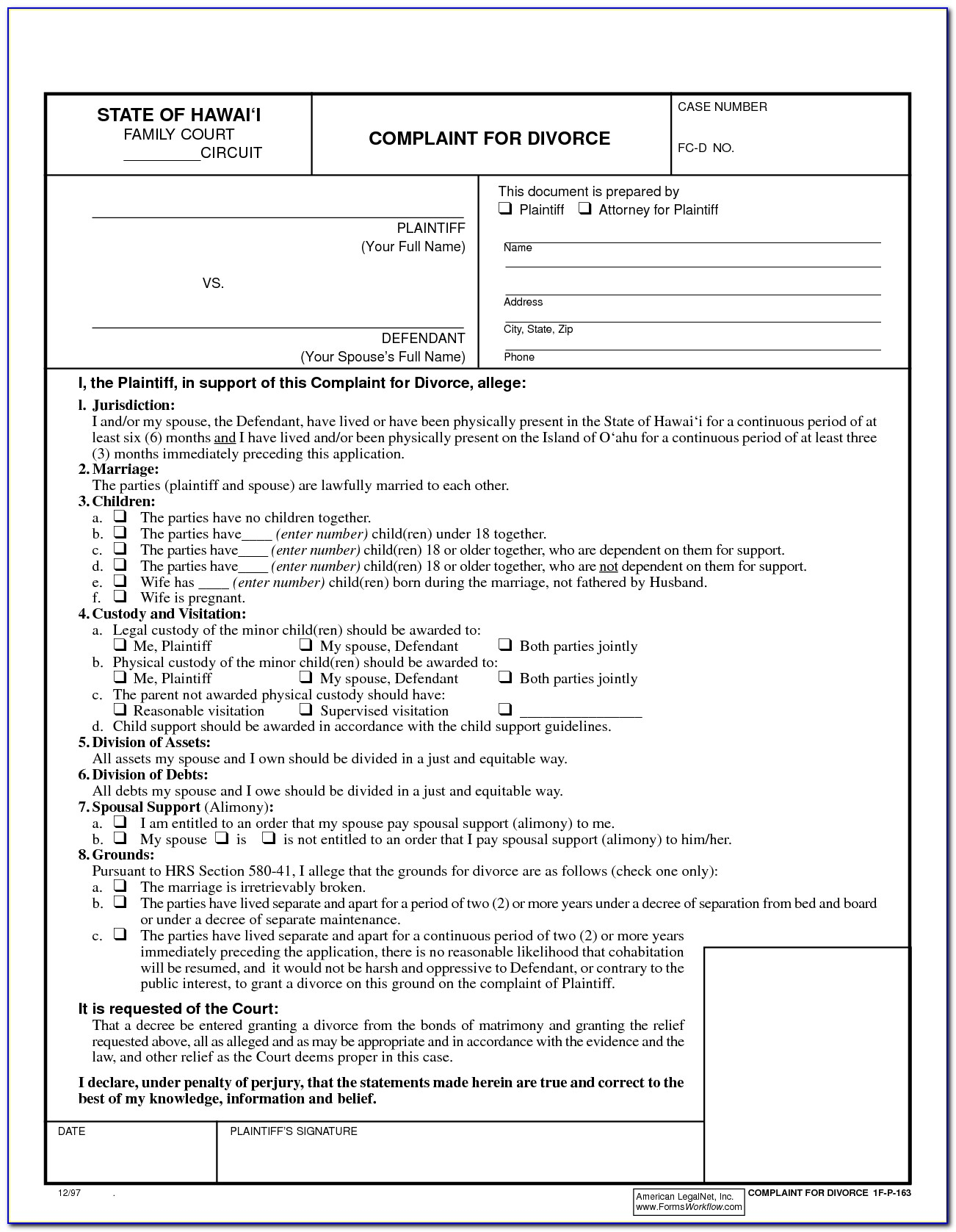 Free Printable Uncontested Divorce Forms Georgia - Form : Resume - Free Printable Uncontested Divorce Forms Georgia