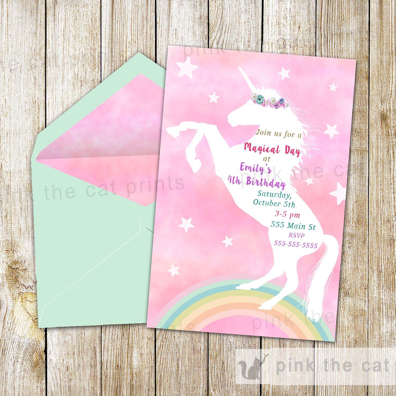 Free Printable Unicorn Invitations | Freebies | Unicorn Invitations - Printable Invitations Free No Download