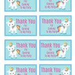 Free Printable Unicorn Party Gift Tag | Birthday Ideas   Free Printable Thank You Tags For Birthday Favors