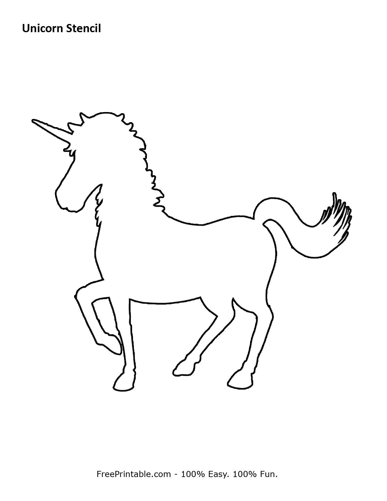 Free Printable Unicorn Stencils | Crafts & Sewing | Pinterest - Free Printable Poodle Template