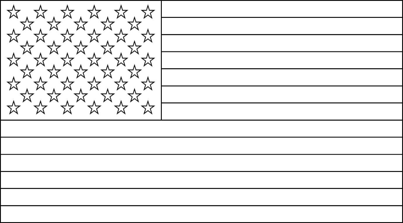 Free Printable Us Flags & American Flag Color Book Pages - Free Printable American Flag Coloring Page